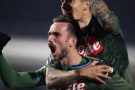 February 21, 2020, Brescia, United Kingdom: Fabian Ruiz of Napoli celebrates after scoring to give the side a 2-1 lead during the Serie A match at Stadio Mario Rigamonti, Brescia. Picture date: 21st February 2020. Picture credit should read: Jonathan Moscrop/