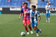 BARCELONA, SPAIN - JULY 12:.Victor Gomez of RCD Espanyol during the Liga match between RCD Espanyol and SD Eibar at RCD Stadium on July 12, 2020 in Barcelona, Spain. (Photo by DAX\/ESPA-Images
