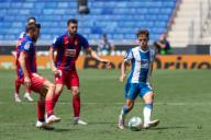BARCELONA, SPAIN - JULY 12:.Oscar Melendo of RCD Espanyol in action during the Liga match between RCD Espanyol and SD Eibar at RCD Stadium on July 12, 2020 in Barcelona, Spain. (Photo by DAX\/ESPA-Images