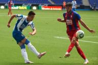 Wu Lei of RCD Espanyol during the Liga match between RCD Espanyol and SD Eibar at RCD Stadium on July 12, 2020 in Barcelona, Spain. (Photo by DAX\/ESPA-Images
