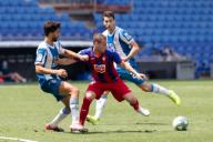 BARCELONA, SPAIN - JULY 12:.Sebastian Cristoforo of SD Eibar in action during the Liga match between RCD Espanyol and SD Eibar at RCD Stadium on July 12, 2020 in Barcelona, Spain. (Photo by DAX\/ESPA-Images