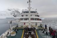 Plancius cruise ship, Lemaire channel, Antarctica.