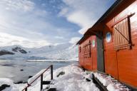 Almirante Brown Argentinian station, Paradise Bay, Antarctica.