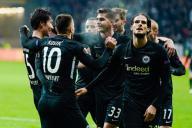 12 December 2019, Hessen, Frankfurt/Main: Soccer: Europa League, Eintracht Frankfurt - Vitoria Guimaraes, Group stage, Group F, 6th matchday, in the Commerzbank Arena. Frankfurt