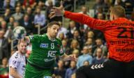 12 December 2019, Berlin: Handball: Bundesliga, Füchse Berlin - THW Kiel, 17th matchday, Max-Schmeling-Halle. Berlin