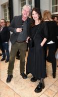 21 February 2020, Berlin: 70th Berlinale, reception FilmFernsehFonds Bayern: director Detlev Buck and actress Iris Berben. The International Film Festival takes place from 20.02. to 01.03.2020. Photo: Jens Kalaene/dpa-Zentralbild/