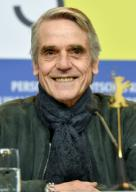 20 February 2020, Berlin: 70th Berlinale, press conference, jury: Jury chairman Jeremy Irons. The International Film Festival takes place from 20.02. to 01.03.2020. Photo: Jens Kalaene/dpa-Zentralbild/