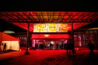 "20 February 2020, Berlin: 70th Berlinale, Opening Party: Exterior view at the opening party of the International Film Festival. The Berlinale opens with the film ""My Salinger Year"". Photo: Gerald Matzka/dpa-Zentralbild/"