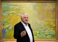 "20 February 2020, Brandenburg, Potsdam: Entrepreneur Hasso Plattner speaks during the press conference for the exhibition ""Monet.Orte"" at the Barberini Museum. The exhibition will be on display from 22. 02. to 01. 06. 2020. Photo: Soeren Stache/dpa-Zentralbild/"