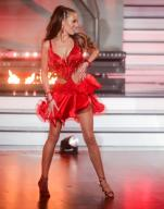 """21 February 2020, North Rhine-Westphalia, Cologne: Laura Müller, TV personality, dances in the RTL dance show """"Let"""