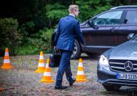 19 June 2020, Mecklenburg-Western Pomerania, Güstrow: CDU politician Philipp Amthor leaves the conference hotel after the meeting of the CDU state executive committee. Amthor announced his resignation from running for election as CDU state chairman in Mecklenburg-Vorpommern. Photo: Jens Büttner\/dpa-Zentralbild