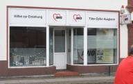 "16 July 2020, Mecklenburg-Western Pomerania, Torgelow: An office of the Arbeiterwohlfahrt (AWO) bears the lettering ""Täter-Opfer-Ausgleich"" (victim-offender mediation). The town is located on the lower Uecker in the area of the Ueckermünder Heide between the towns of Pasewalk and Ueckermünde. The small town, first mentioned in 1281 and now with over 9,000 inhabitants, was once founded as a trading centre at the confluence of the Uecker and Randow rivers. Many apartments and shops in the old town are empty today. The traditional foundry, which is known above all for its components weighing several tons for large wind turbines and diesel engine construction, is threatened with insolvency. The foundry has about 320 employees and is considered one of the structure-determining companies for Western Pomerania. Photo: Stefan Sauer\/dpa-Zentralbild"