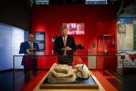 King Willem-Alexander of The Netherlands at the Rijksmuseum Boerhaave in Leiden, on July 16, 2020, to open the exhibition Besmet, it is about the outbreaks of infectious diseases such as plague and smallpox and how they can disrupt life and the recent outbreak of the coronavirus COVID-19 Photo: Albert Nieboer \/ Netherlands OUT \/ Point de Vue OUT