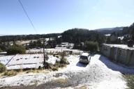 EUM20200121SOC20.JPG ZINACANTEPEC, Méx. Volcano/Volcán-Nevado.- 21 de enero de 2019. Aspectos de la nieve que cubrió de blanco a las comunidades de Raíces y Loma Alta, cercanas al Nevado de Toluca. Foto: Agencia EL UNIVERSAL/