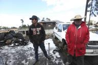 EUM20200121SOC18.JPG ZINACANTEPEC, Méx. Volcano/Volcán-Nevado.- 21 de enero de 2019. Aspectos de la nieve que cubrió de blanco a las comunidades de Raíces y Loma Alta, cercanas al Nevado de Toluca. Foto: Agencia EL UNIVERSAL/