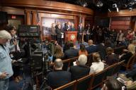Rep. Adam Schiff (D-Calif.), along with his other impeqchment managers, held a news conference following the first day of opening arguments by the president