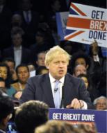 British Prime Minister Boris Johnson speaks during his ruling Conservative Party