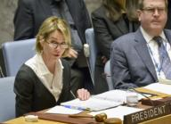 U.S. Ambassador to the United Nations Kelly Craft chairs a U.N. Security Council open session on North Korea