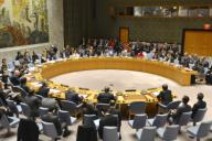 The U.N. Security Council holds an open session on North Korea