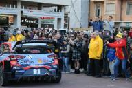 PHOTOPQR/NICE MATIN/Cyril Dodergny ; Monaco ; 26/01/2020 ; Monaco le 26/01/2020 - Port Hercule - Remise des prix du Rallye de Monte-Carlo, le 1er Rallye de la saison du championnat du Monde - Le Belge Thierry Neuville (Hyundai) remporte le 88e Monte-...