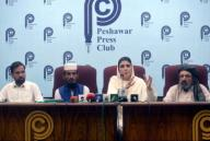 PESHAWAR, PAKISTAN, SEP 29: Chairperson of Pakistan Tehreek-e-Insaf (Gulalai), Ayesha Gulalai addresses to media persons during press conference held at Peshawar press club on Tuesday, September 29, 2020. (K.Pervez\/PPI Images