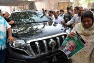 LAHORE, PAKISTAN, SEP 29: Opposition Leader in the National Assembly, Shahbaz Sharif is being escorting by party workers upon his arrival for case hearing of money laundering and assets beyond known sources of income, at Accountability Court in Lahore on Tuesday, September 29, 2020. (Babar Shah\/PPI Images