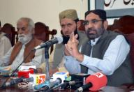 QUETTA, PAKISTAN, SEP 29: Balochistan National Party (BNP) Leader, Muhammad Ismail Gujjar addresses to media persons during press conference, at Quetta press club on Tuesday, September 29, 2020. (Sami Khan\/PPI Images