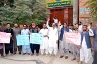 QUETTA, PAKISTAN, SEP 29: Members of Pashtoon Student Fedaretion (PSF) are holding protest demonstration for acceptance of their demands, at Quetta press club on Tuesday, September 29, 2020. (Sami Khan\/PPI Images