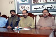 QUETTA, PAKISTAN, SEP 29: Tribal Leader, Abrar Shahwani addresses to media persons during press conference, at Quetta press club on Tuesday, September 29, 2020. (Sami Khan\/PPI Images