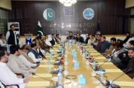 QUETTA, PAKISTAN, SEP 29: Quetta Chamber of Commerce and Industry (QCCI) President, Ghulam Farooq Khilji addresses during annual general body session, in Quetta on Tuesday, September 29, 2020. (Sami Khan\/PPI Images