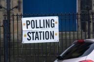 Polling stations, West Yorkshire, UK, 12 Dec