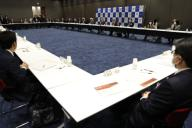 Yoshiro Mori, President of the Tokyo 2020 Olympic Games Organising Committee, delivers a speech during Tokyo 2020 Executive Board Meeting in the coronavirus disease (COVID-19) outbreaking in Tokyo, Japan March 30, 2020. Tokyo, JAPAN 30 March 2020. //DATICHE_001.0434/2003310943/Credit:Issei Kato/Pool/SIPA/