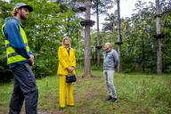 BURGH-HAAMSTEDE, NETHERLANDS - JUNE 02: Queen Maxima of The Netherlands visits climbing forest Zeeuwse Helden and camping Ons Buiten to get informed about the impact of the Corona Pandemic on the tourism sector on July 8, 2020 in BurgH-Haamstede, Netherlands.\/\/UTRECHT_1500.1493\/2007091151\/Credit:Robin Utrecht\/SIPA