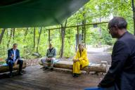 BURGH-HAAMSTEDE, NETHERLANDS - JUNE 02: Queen Maxima of The Netherlands visits climbing forest Zeeuwse Helden and camping Ons Buiten to get informed about the impact of the Corona Pandemic on the tourism sector on July 8, 2020 in BurgH-Haamstede, Netherlands.\/\/UTRECHT_1500.1500\/2007091153\/Credit:Robin Utrecht\/SIPA