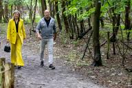 BURGH-HAAMSTEDE, NETHERLANDS - JUNE 02: Queen Maxima of The Netherlands visits climbing forest Zeeuwse Helden and camping Ons Buiten to get informed about the impact of the Corona Pandemic on the tourism sector on July 8, 2020 in BurgH-Haamstede, Netherlands.\/\/UTRECHT_1500.1484\/2007091149\/Credit:Robin Utrecht\/SIPA