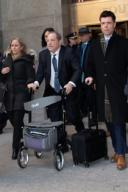 Harvey Weinstein Exits Courthouse on Fourth Day of Deliberations Manhattan Criminal Court, NY Pictured: Harvey Weinstein Ref: SPL5150739 210220 NON-EXCLUSIVE Picture by: Janet Mayer / SplashNews.com Splash News and Pictures Los Angeles: 310-...