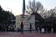 EUM20200121SOC36.JPG CIUDAD DE MÉXICO. Protest/Protesta-CCH.- 21 de enero de 2019. Aspectos de la protesta que realizaron alumnos del CCH Azcapotzalco frente a rectoría de Ciudad Universitaria; exigen seguridad y atención médica adecuada. Foto: Agencia EL UNIVERSAL/Fernanda Rojas/EELG