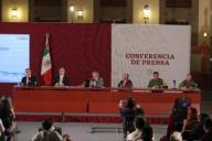 EUM20200330SAL35.JPG CIUDAD DE MÉXICO Health/Salud-Coronavirus.- Conferencia de prensa nocturna sobre el estado que guarda la pandemia por Covid-19 en México, el domingo 29 de marzo de 2020 en el Palacio Nacional. Foto: Agencia EL UNIVERSAL/Valente Rosas/EVZ