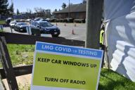 UNITED STATES - 4-3-2020: The Loudoun Medical Group set this centralized, drive-through COVID-19 testing tent up for its patients on an appointment basis. LMG is Loudoun County Virginia