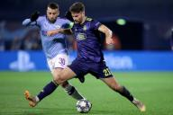 (191212) -- ZAGREB, Dec. 12, 2019 (Xinhua) -- Nicholas Otamendi (L) of Manchester City vies with Bruno Petkovic of Dinamo Zagreb during a Group C match of the 2019-2020 UEFA Champions League between Dinamo Zagreb and Manchester City at Maksimir Stadium in Zagreb, Croatia, Dec. 11, 2019. (Goran Stanzl/Pixsell via Xinhua)