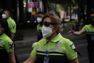 (200531) -- MEXICO CITY, May 31, 2020 (Xinhua) -- Paramedics take part in a parade to commemorate the medical personnel died in the COVID-19 pandemic in Mexico City, Mexico, May 30. 2020. (Photo by Sunny Quintero\/Xinhua)